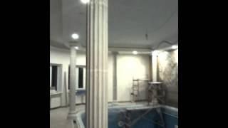 Бетонные колонны (окончание установки).