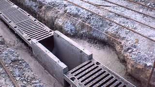 Установка и монтаж бетонные желоба MAXI 1