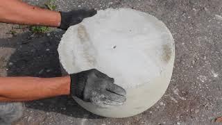 Установка бетонных полусфер