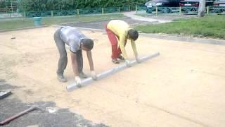 8 Экопарковка Установка газонной бетонной решетки