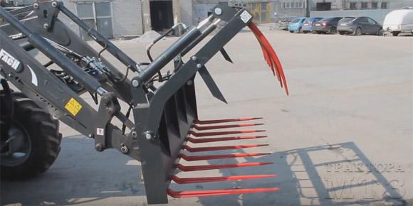 Погрузчик Метал Фах на переднюю навеску трактора МТЗ