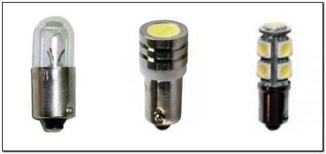 Варианты ламп для габаритов