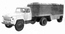 Опытный образец седельного тягача ГАЗ-52П