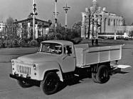 Опытный грузовик ГАЗ-52Я с грузоподъемным задним бортом