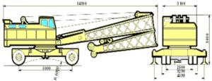Габариты крана КС-5363