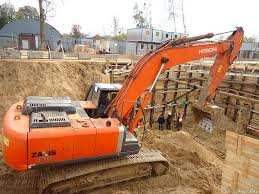 Hitachi ZX 330 на строительной площадке