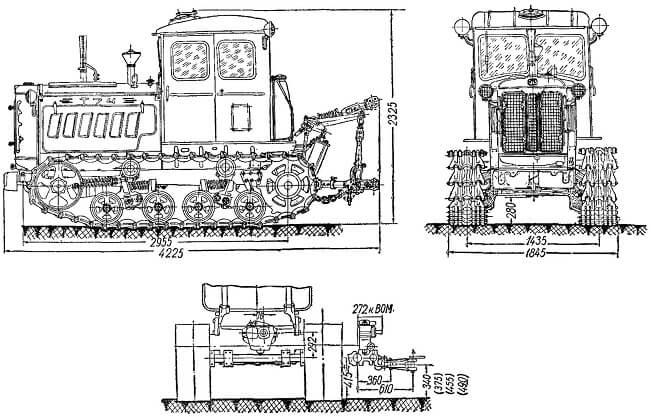 Схема трактора Т-74