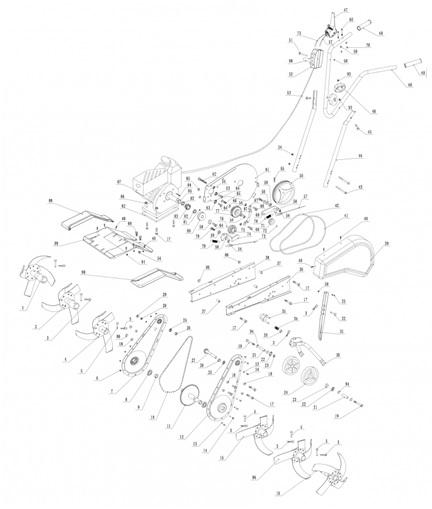 Технические характеристики культиватора Техас Лили 534