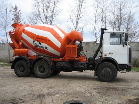Агрегат для получение бетона за время следования