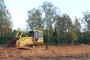 Бульдозер Б10М земляные работы