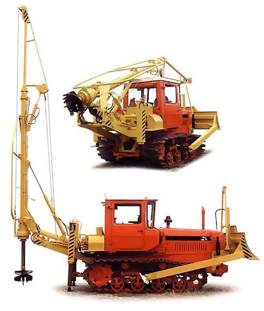 Бурильно-крановая машина