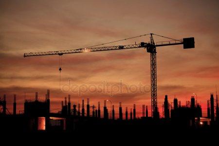 Промышленное строительство — стоковое фото