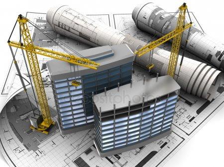 Развитие Строительство зданий — стоковое фото