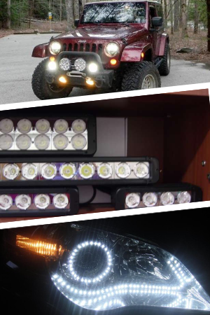 Применение фар для внедорожников на светодиодах