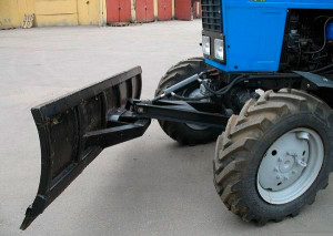 Фото: Самодельный отвал для трактора МТЗ-82
