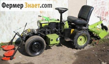 Трактор з мотоблока своїми руками відео