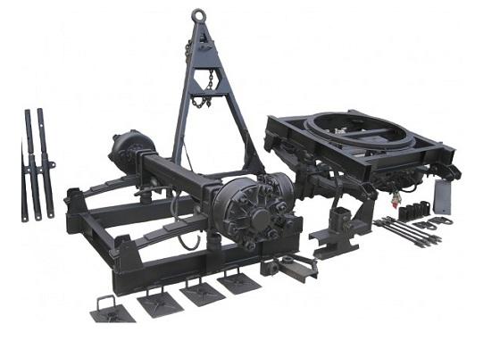 Поткатная тележка прицепа тракторного. Запасные части.