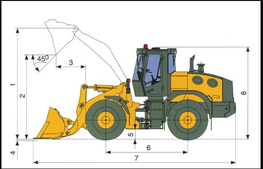 Фронтальный гидравлический погрузчик L-34: описание и технические характеристики